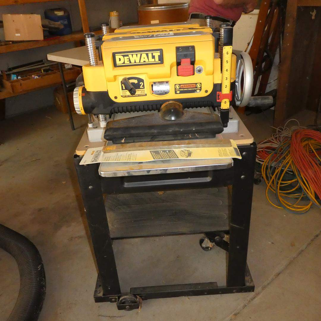 """Lot # 133 - DeWALT 13"""" Thickness Planer on Rolling Stand (main image)"""