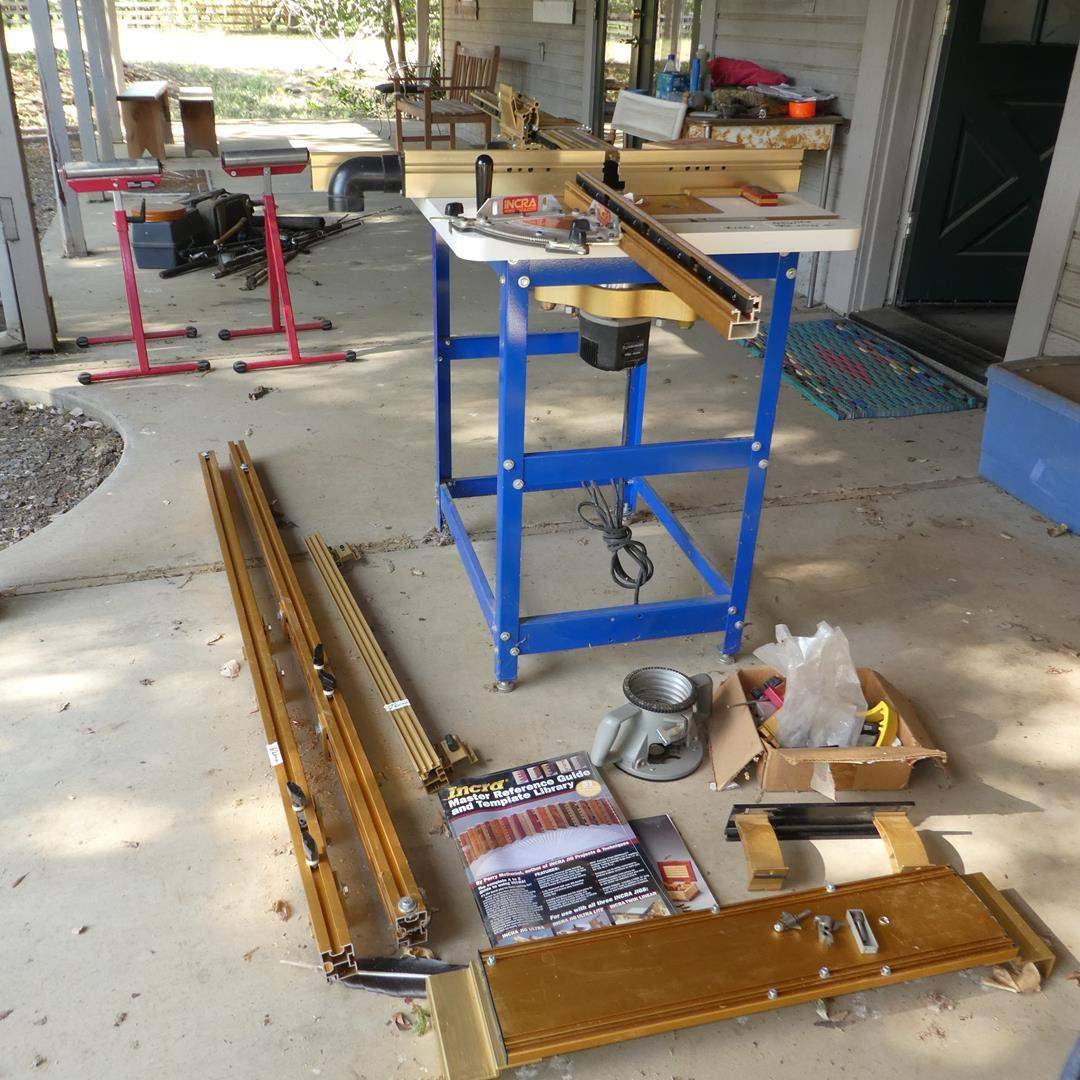 Lot # 136 - Router Table w/Incra Jig, Fixtures & Reference & Project Books