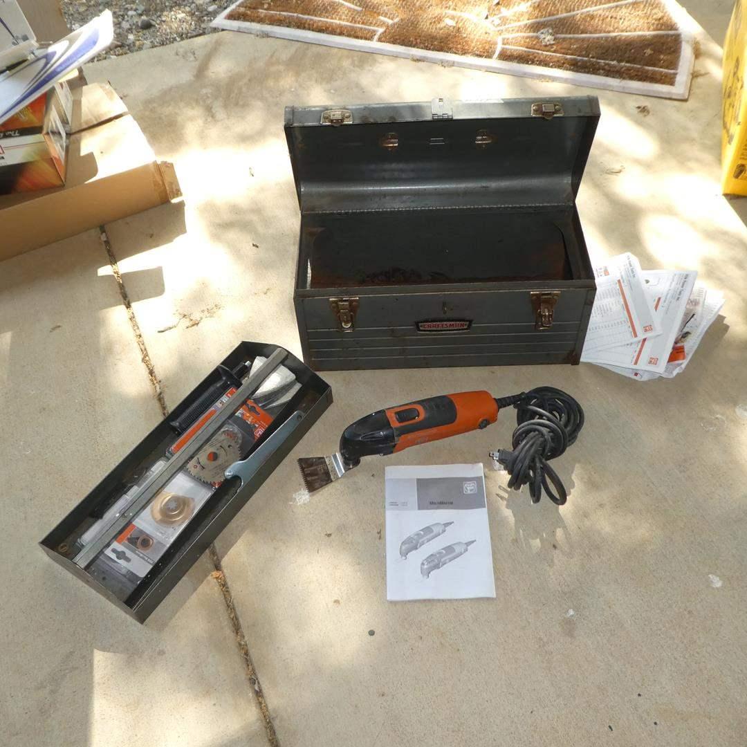 Lot # 144 - Multi Master Tool, Accessories & Craftsman Tool Box