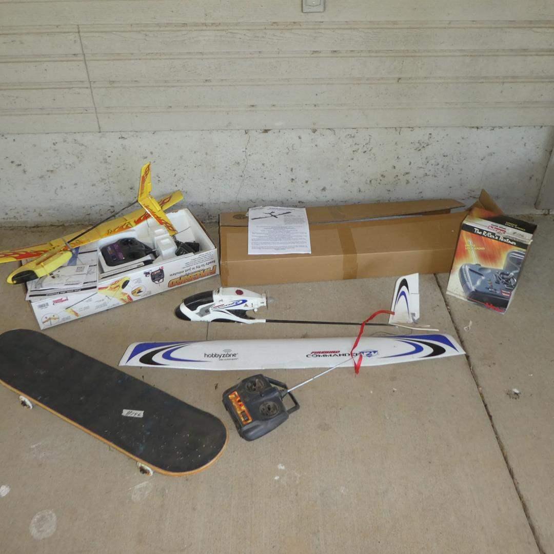 Lot # 146 - Skateboards & Radio Control Airplanes