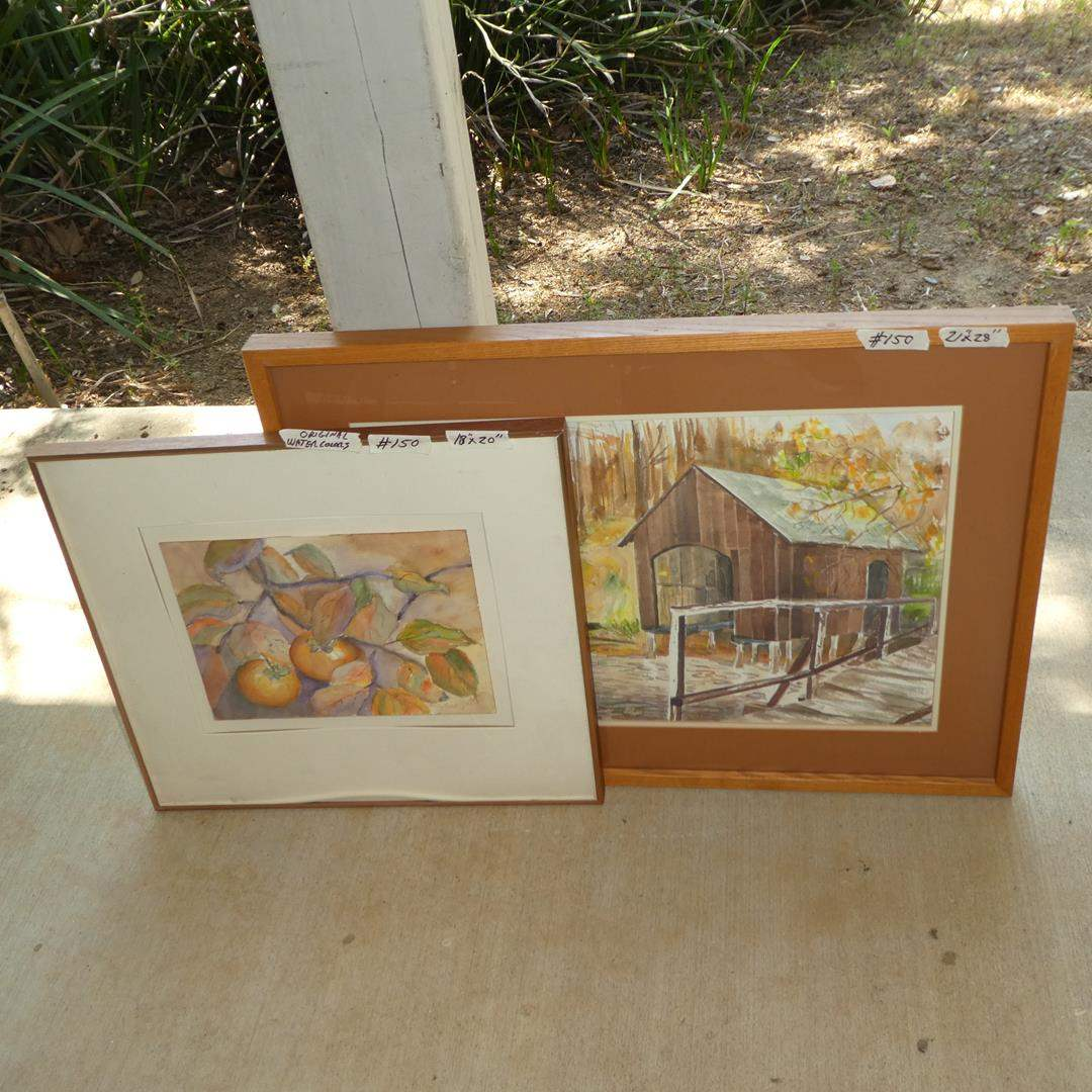 Lot # 150 - Two Framed Original Watercolor Paintings