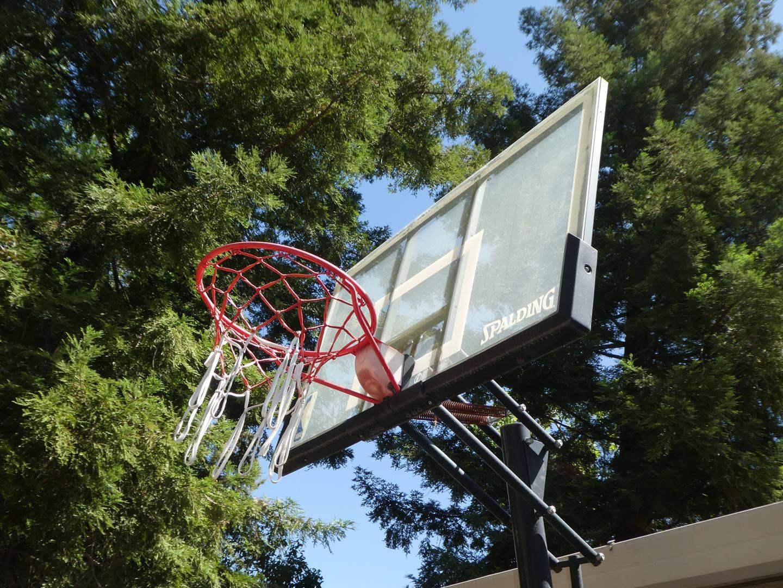 Lot # 154 - Free Standing Spalding Basketball Hoop - Adjustable Height (main image)