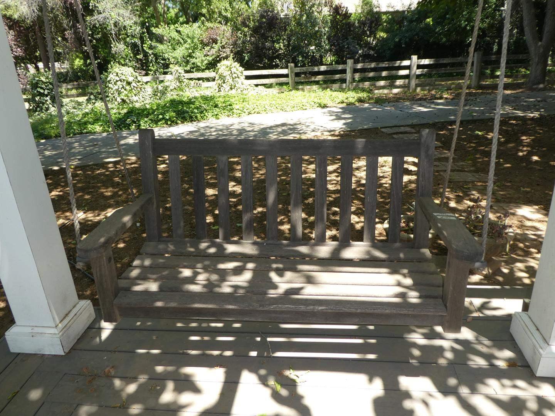 Lot # 160 - Teak Hanging Porch Swing