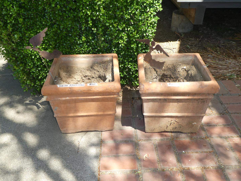 Lot # 162 - Pair Terracotta Planters (main image)