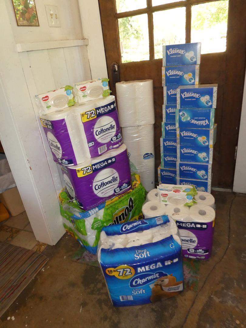 Lot # 166 - Toilet Paper, Baby Wipes, Paper Towels & Kleenex (main image)