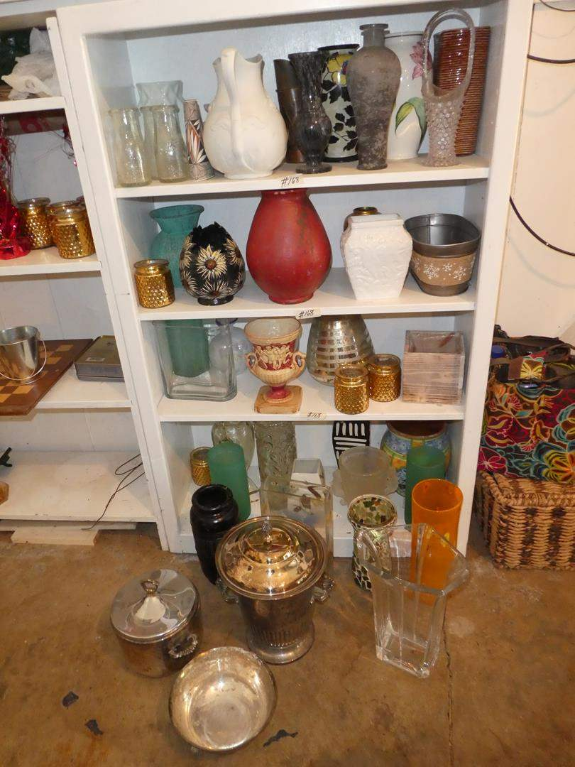 Lot # 168 - Big Assortment  of Fun & Decorative Vases (main image)