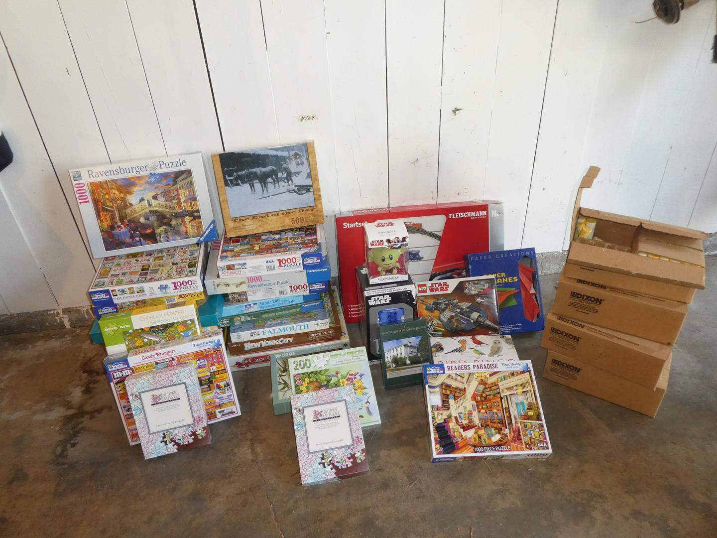 Lot # 169 - Huge Lot of Puzzles & Toys