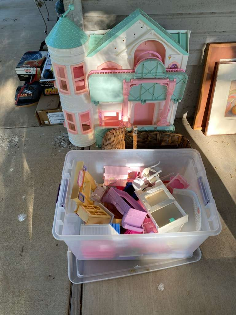 Lot # 147 - Doll House & Furniture