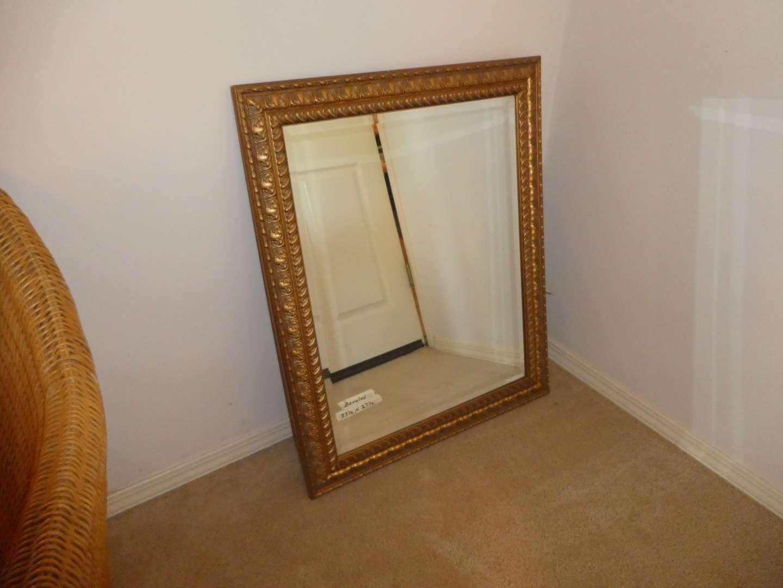 Lot # 214 - Gold Gilt Framed Beveled Mirror
