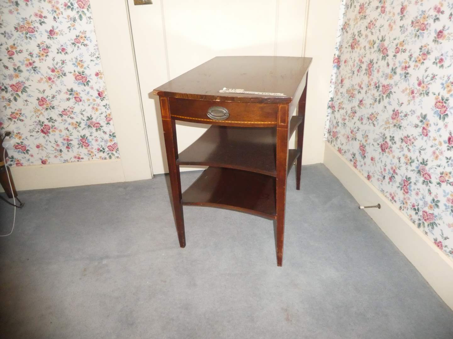 Lot # 12 - Antique Mersman Side Table w/ Drawer (Dovetail)