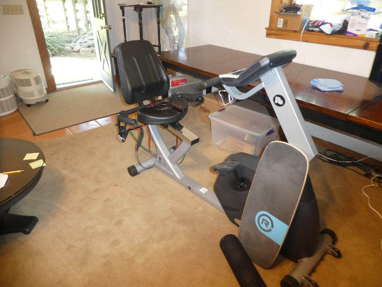 Lot # 206 -  Lifespan Fitness R3 Recumbent Bike and Revolution Balance Board (main image)