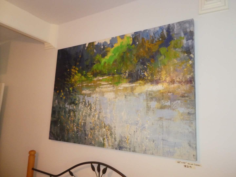 Lot # 219 - Beautiful Large Enhanced Print on Canvas