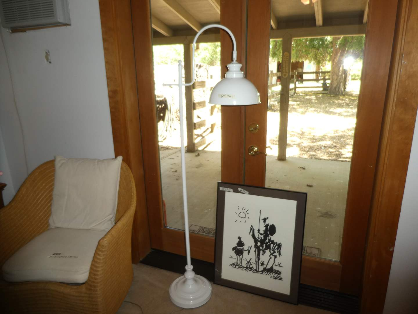 Lot # 222 - Unique Framed Print and Vintage Style Floor Lamp