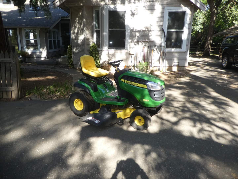 Lot # 225 - John Deere E150 riding Lawn Mower (12.9 Hours) (main image)
