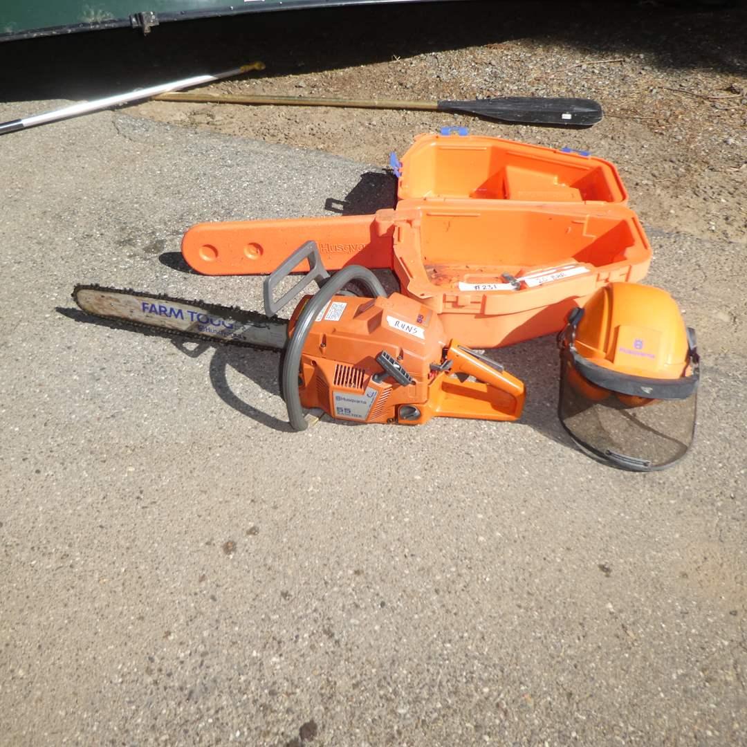"""Lot # 231 - Husqvarna  55 Rancher Chain Saw (Runs, 20""""Bar) (main image)"""