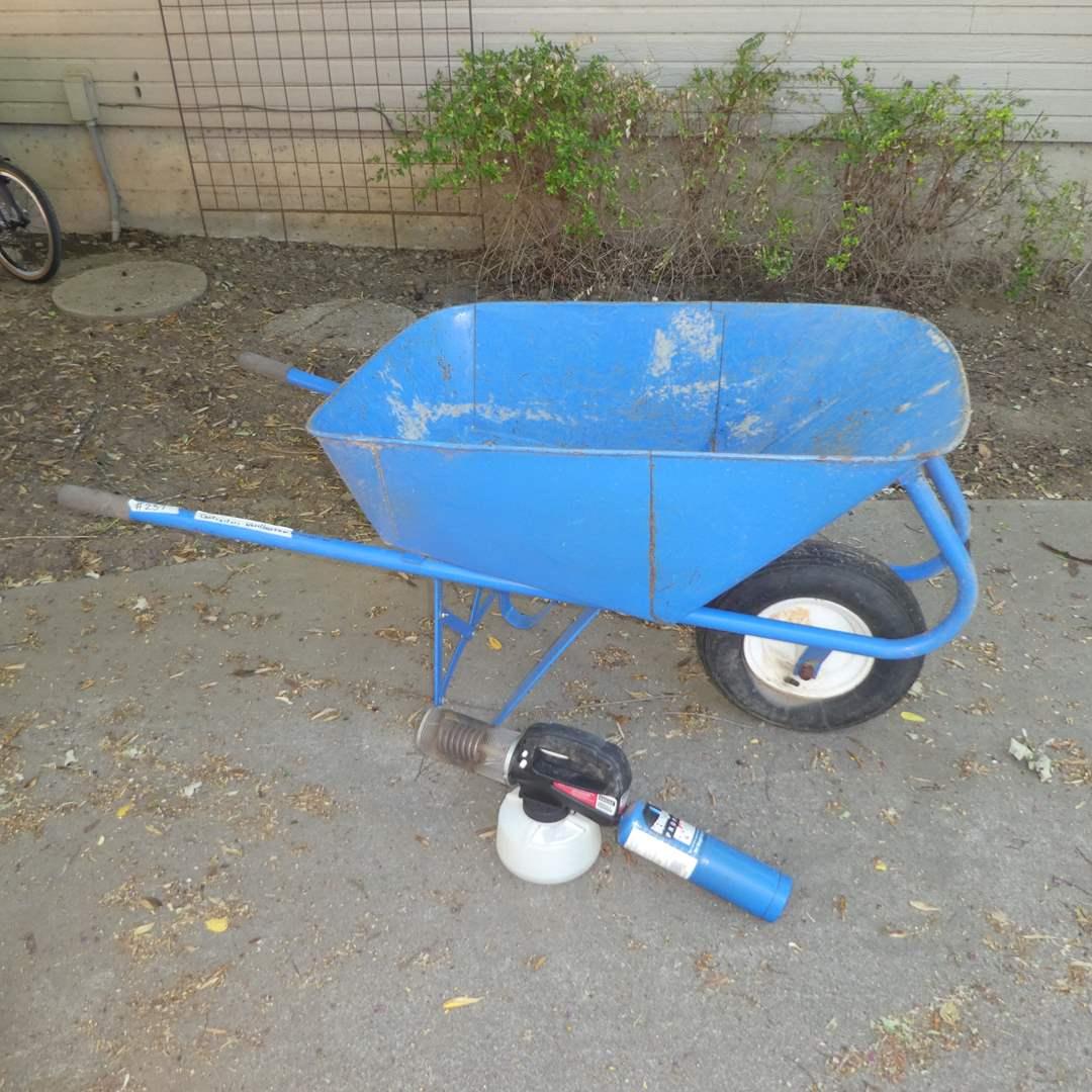 Lot # 237 - Nice Contractors Wheelbarrow and Bonide Insect Fogger (main image)