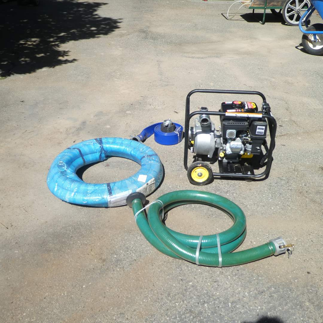 Lot # 238 - Champion Power Equipment Water Pump and Accessories 66520