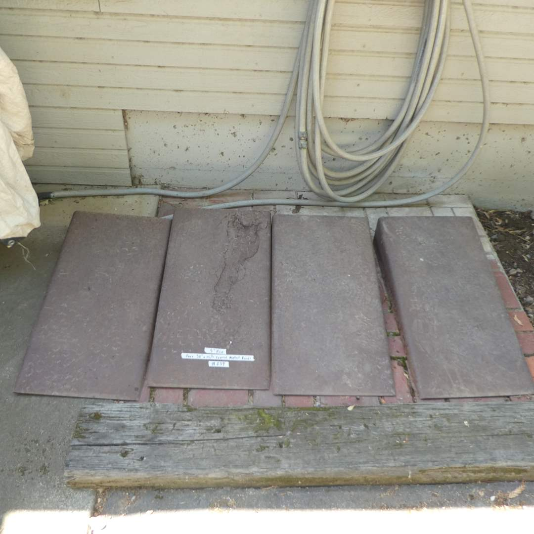 Lot # 239 - Four Tapered Metal Ramps 3/16 Steel (Heavy Steel) (main image)
