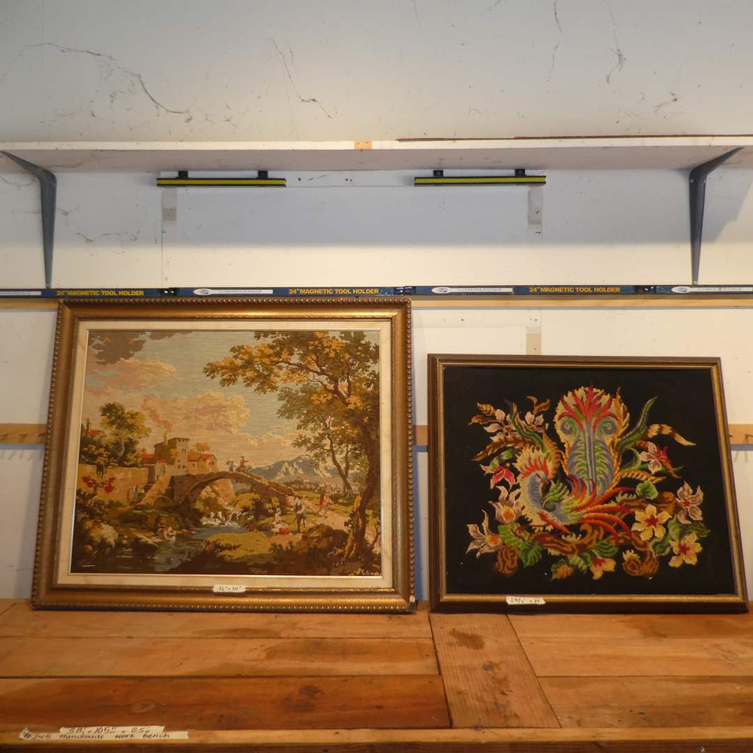 Lot # 253 - Two Beautiful Framed Needle Work Art Pieces