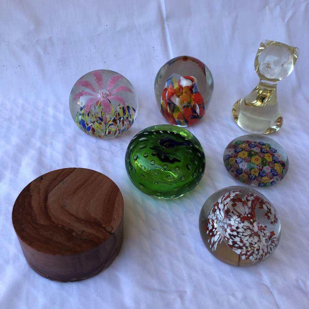 Lot # 8 -  Glass Paperweights (main image)