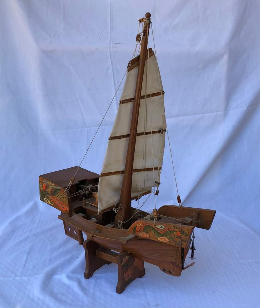 Lot # 11 -  Chinese Model Boat (main image)