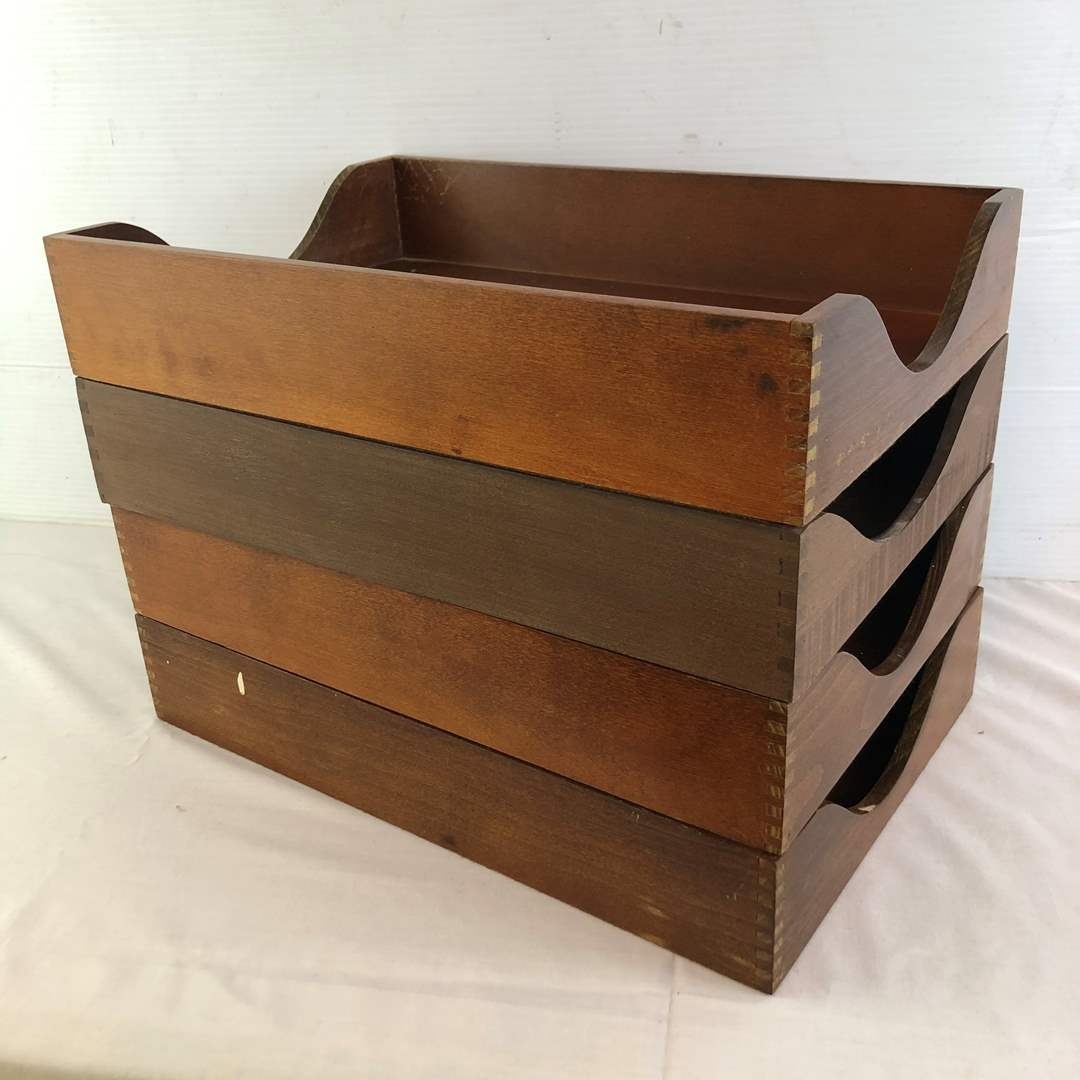 Lot # 12 - Wood Desk Trays