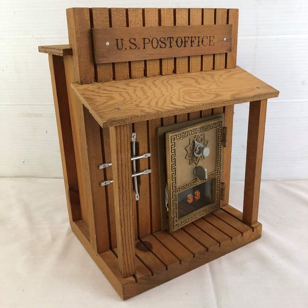 Lot # 17 - Post Office Lockbox Coin Bank (main image)