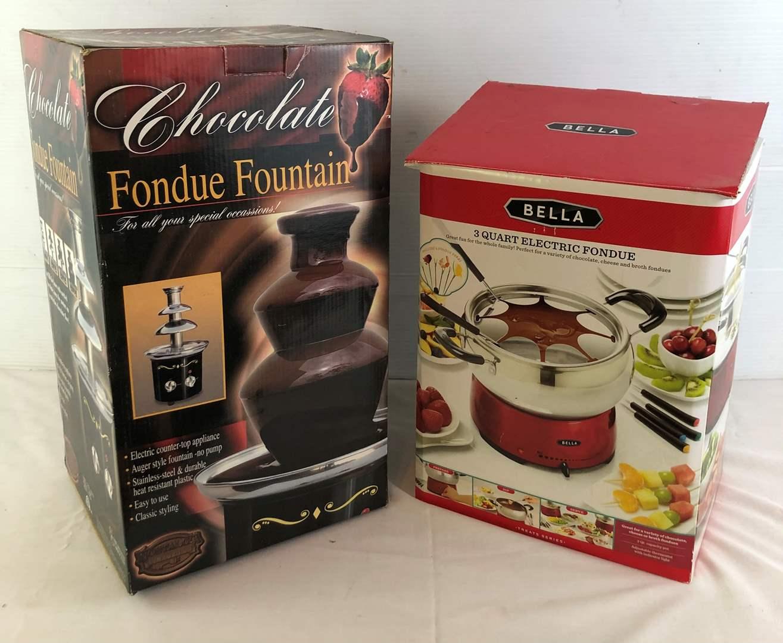 Lot # 22 - Chocolate Fondue Fountain and Electric Fondue (main image)