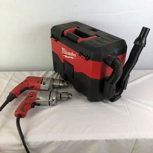 Lot # 39 - Milwaukee Tool Lot - Drills & Wet Vacuum