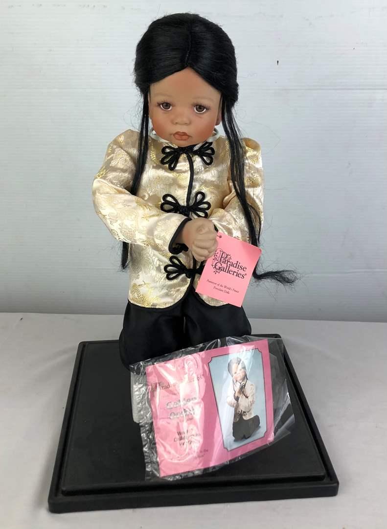 Lot # 47 - Paradise Galleries·Porcelain Doll Golden Orchid