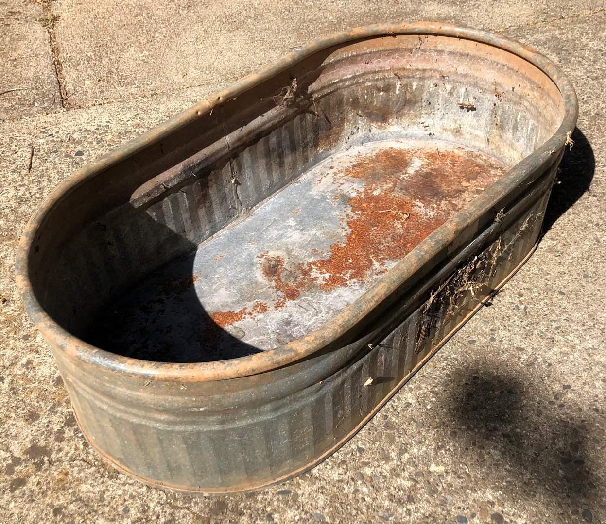 Lot # 56 - Behlen Country Galvanized Stock Tank (main image)