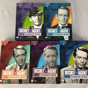 Lot # 60 - Secret Agent aka Danger Man DVD Set 1 - 5