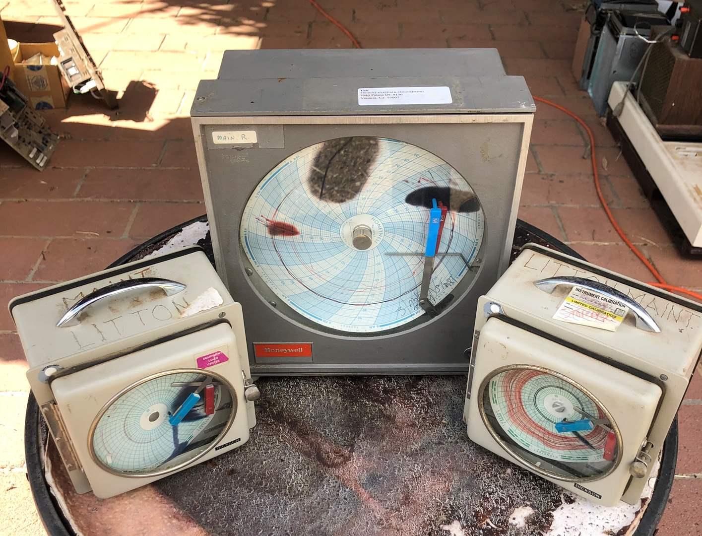 Lot # 79 - 3 Circular Chart Recorders