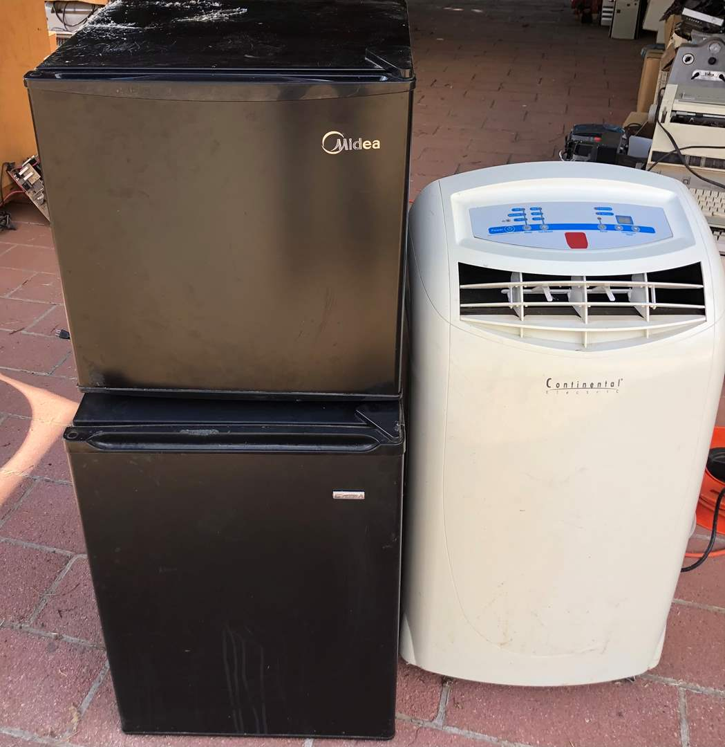 Lot # 80 - 2 Mini Refrigerators 1 portable AC unit (main image)