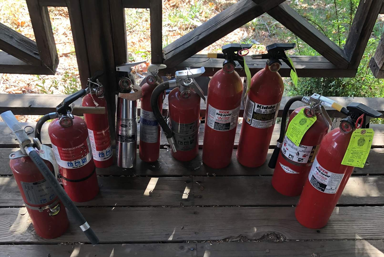 Lot # 81 - 10 Various Fire Extinguishers (main image)