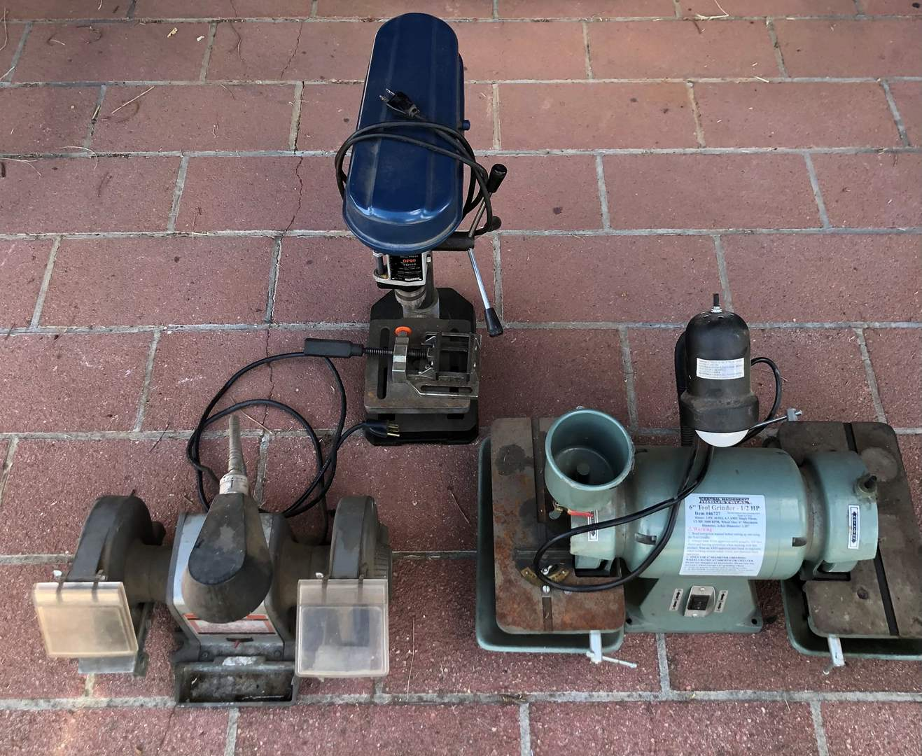 Lot # 85 - 2 Tool Grinders and 1 Drill Press
