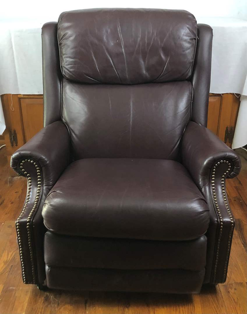 Lot # 93 - Leather Recliner Armchair