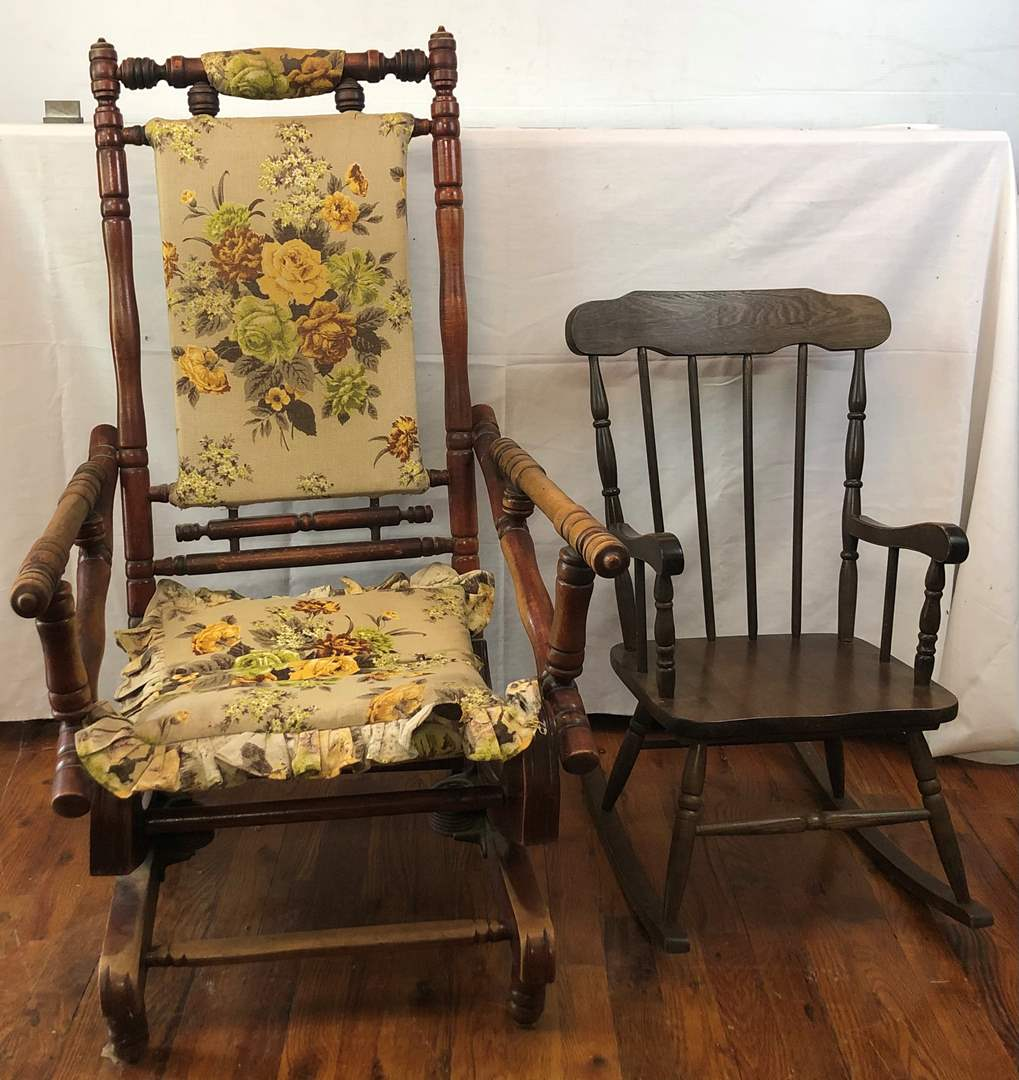 Lot # 125 - 2 Vintage Rocking Chairs