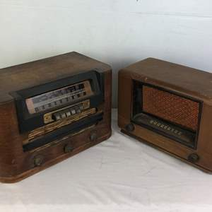 Lot # 133 - 2 Vintage Tube Radios with Wood Cases