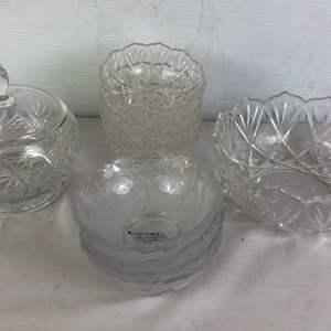 Lot # 148 - Lot of Glass Dishware Bowls Crystal