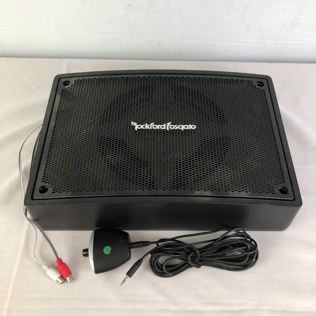 Lot # 152 - Rockford Fosgate Car Audio Subwoofer and Amp