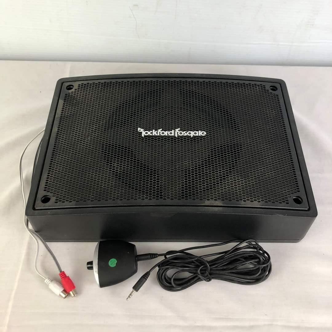 Lot # 152 - Rockford Fosgate Car Audio Subwoofer and Amp (main image)