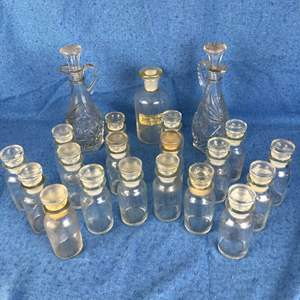 Lot # 143 - Lot of Bottles and Decanters