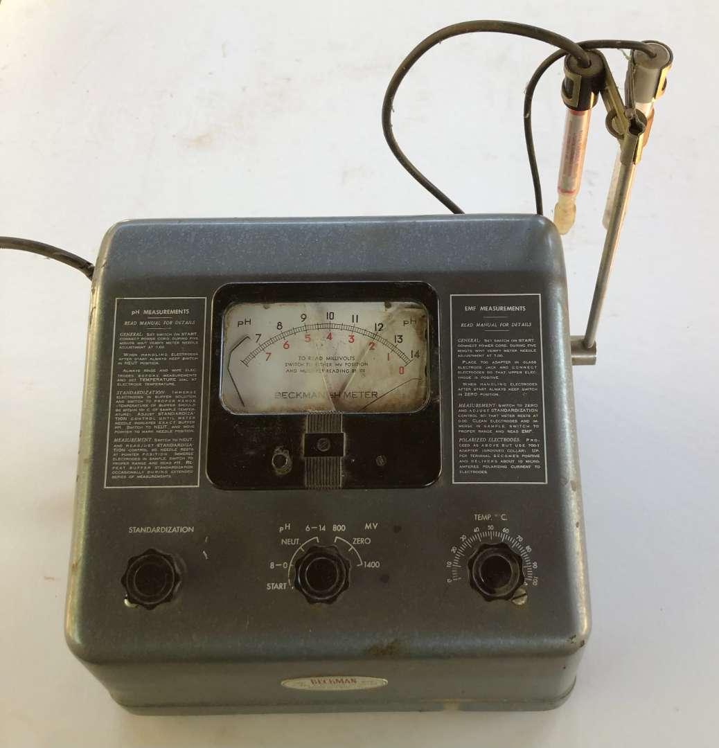 Lot # 161 - Beckman Glass Electrode PH Meter