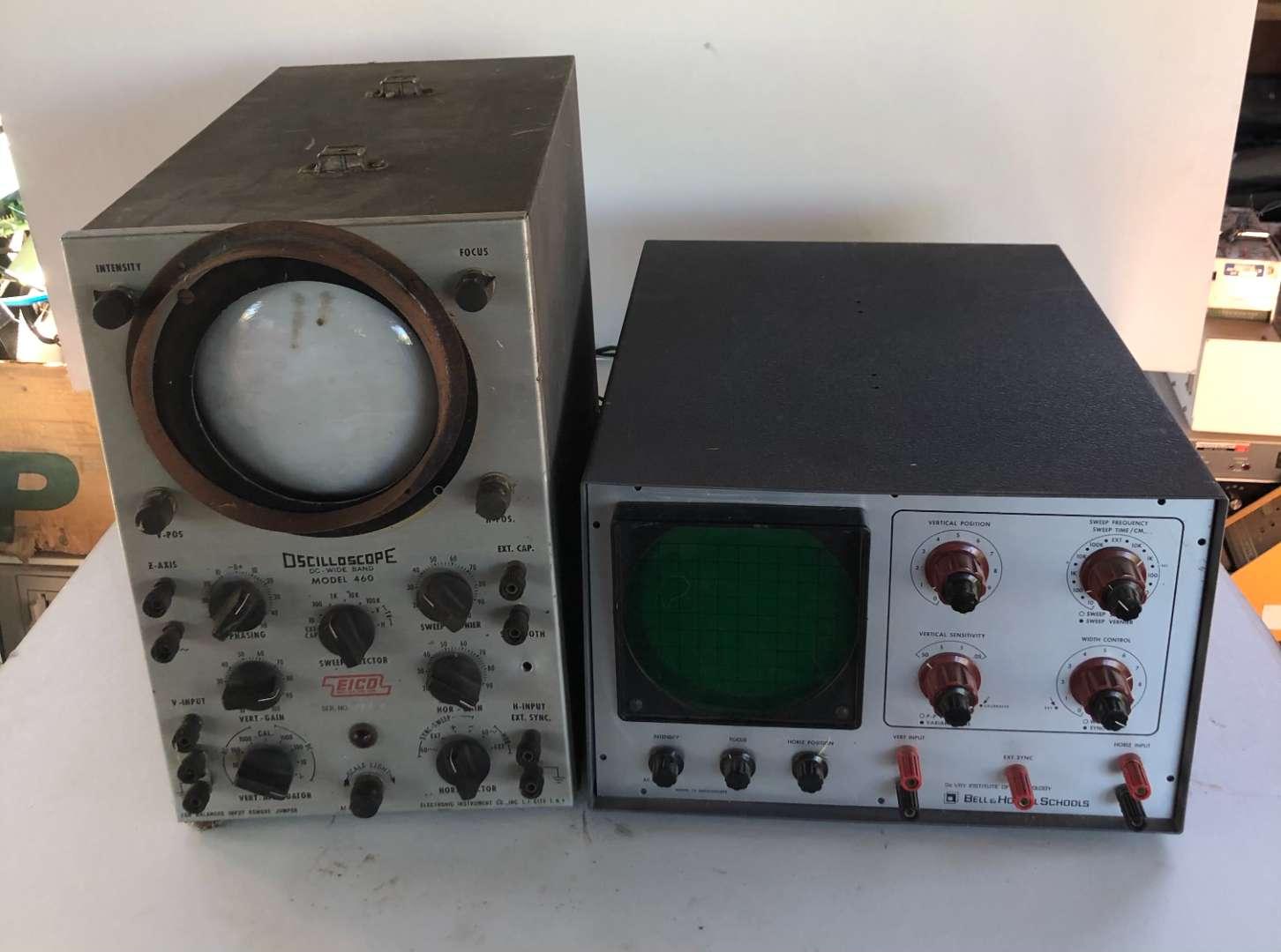Lot # 162 - Lot of 2 Oscilloscopes EICO, Bell & Howell Schools (main image)