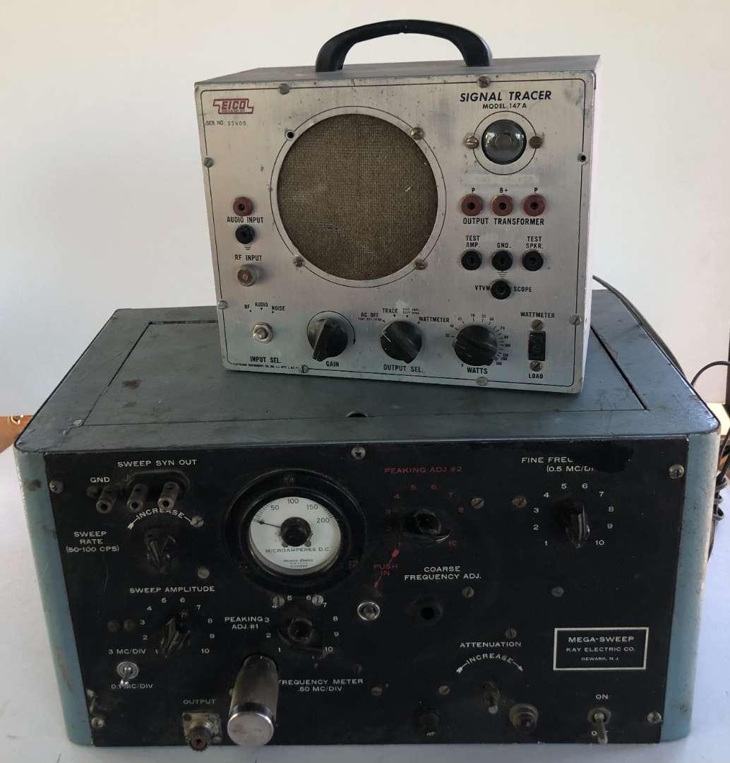 Lot # 163 - EICO Signal Tracer and Kay Electric Co Mega-Sweep (main image)
