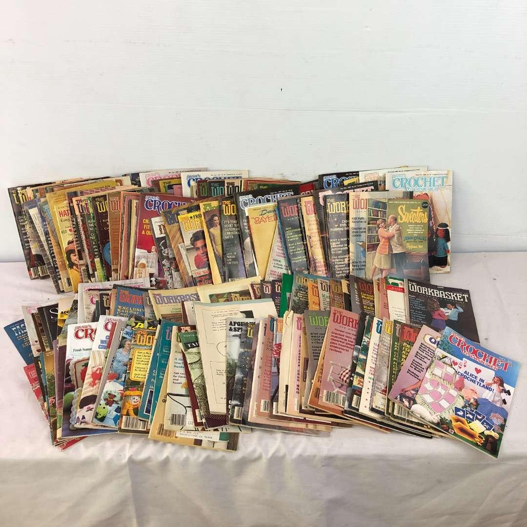 Lot # 198 - Large Lot of Crochet Craftswork Vintage Magazines (main image)