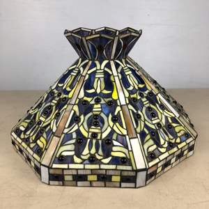 Lot # 3 -   Stained Glass Lampshade