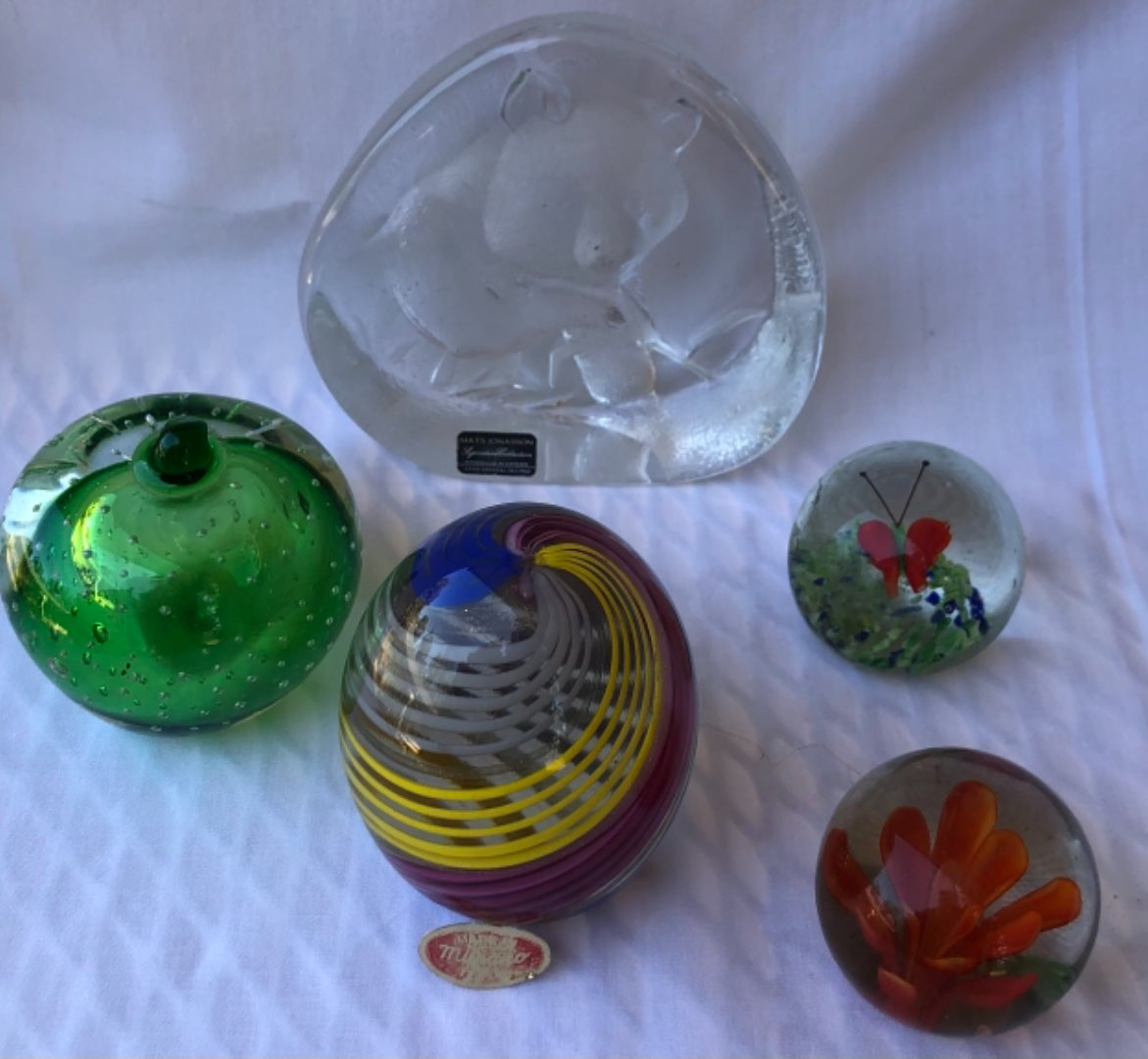 Lot # 7 -  Glass Paperweights