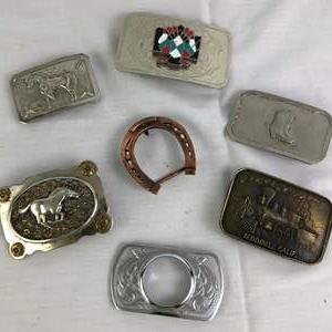 Lot # 28 - Lot of vintage belt buckles